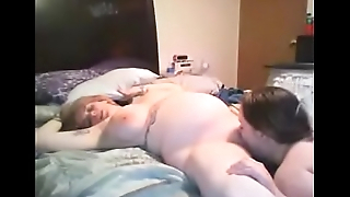2 pregnant wives skunk and sucking threesome